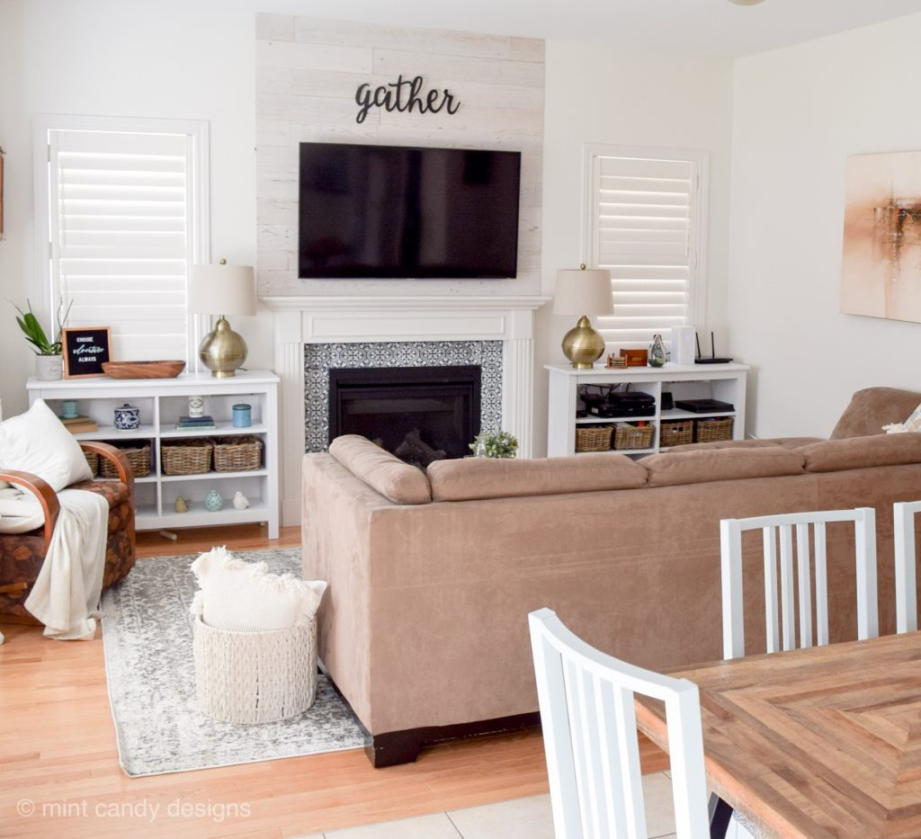 How to add character to a builder grade living room