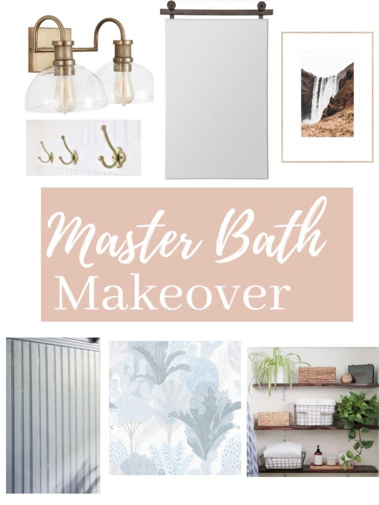 Master bah makeover mood board - Mint Candy Designs