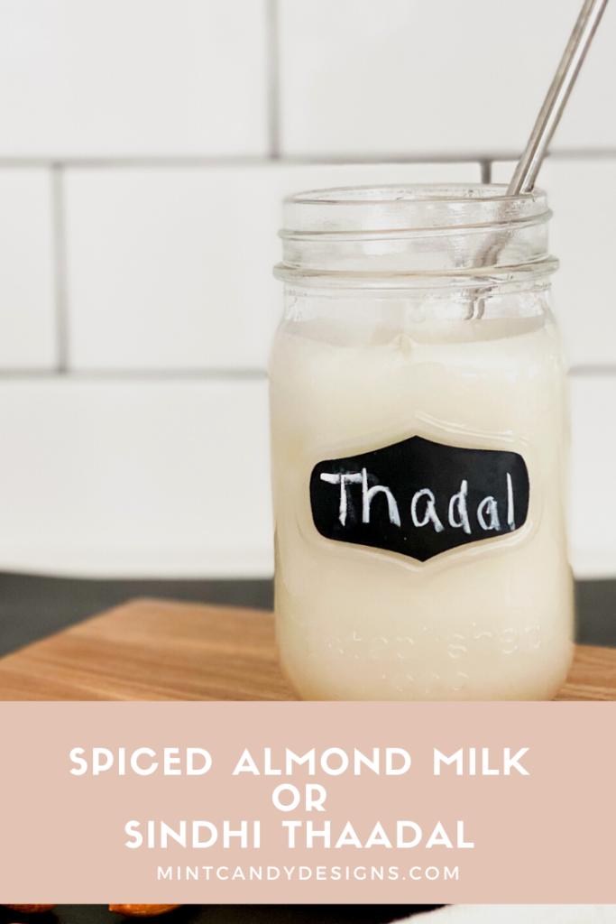 Spiced Almond mIlk - Mint Candy Designs