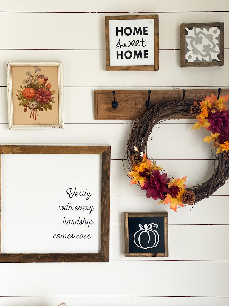 Jewel Tones Fall Entryway Decor - Mint Candy Designs