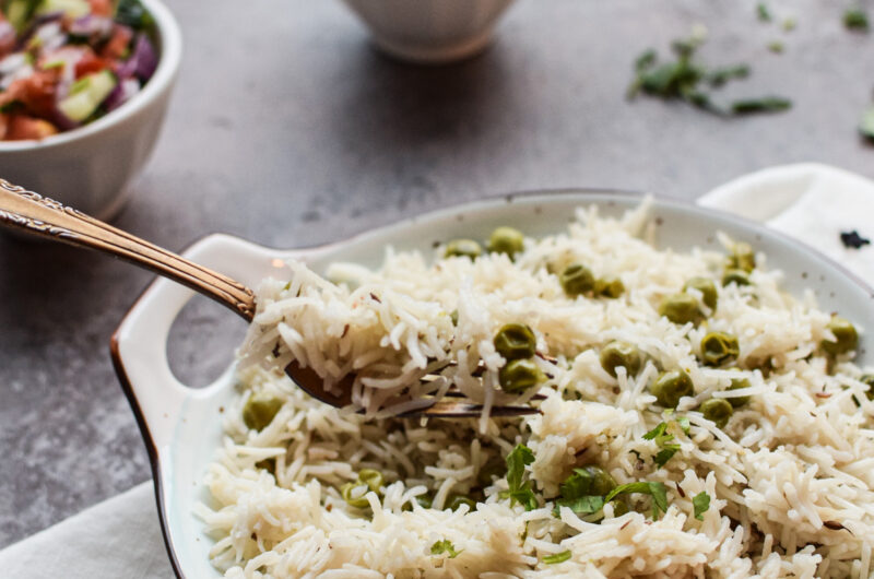 Matar Pulao/Peas Pilaf and Fluffy Rice Hack