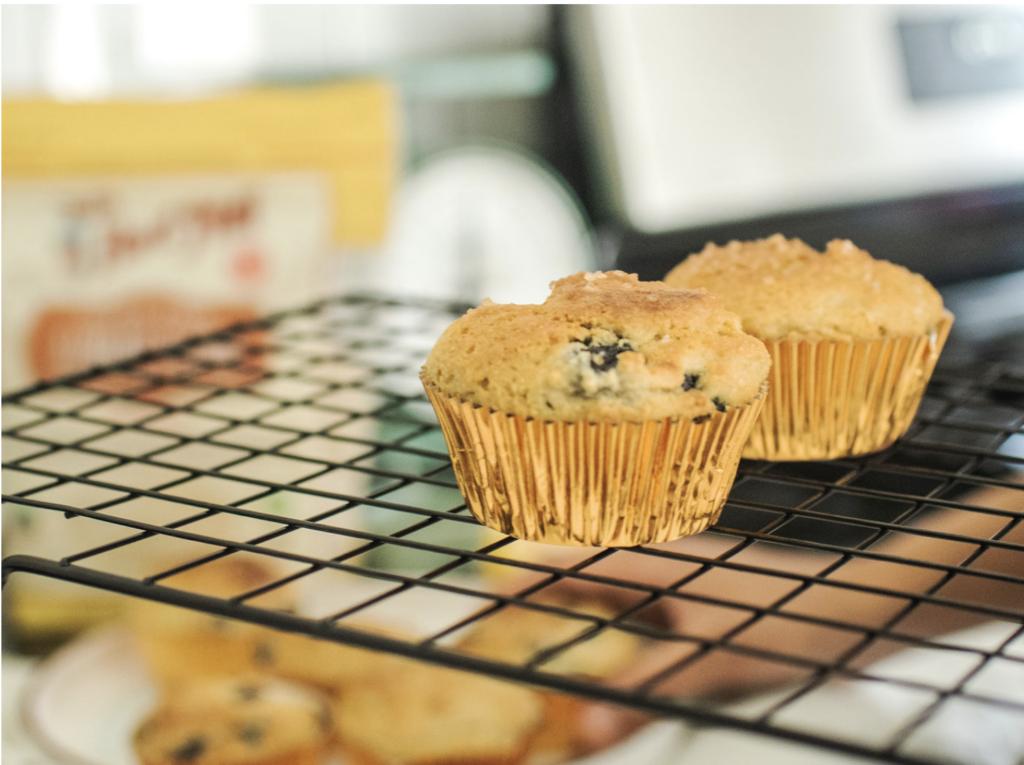 Almond Flour Blueberry Lemon Muffins