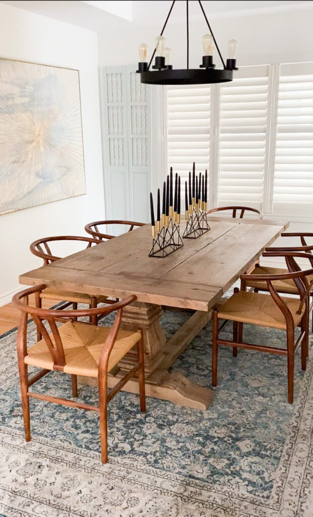 Vintage Inspired Rug Roundup - Dining Room